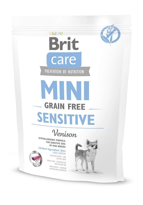 sucha karma dla malego psa, brit care mini sensitive