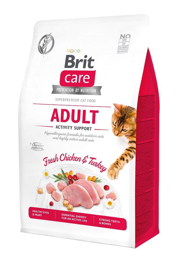 brit care adult grain free activity  sucha karma dla aktywnego kota