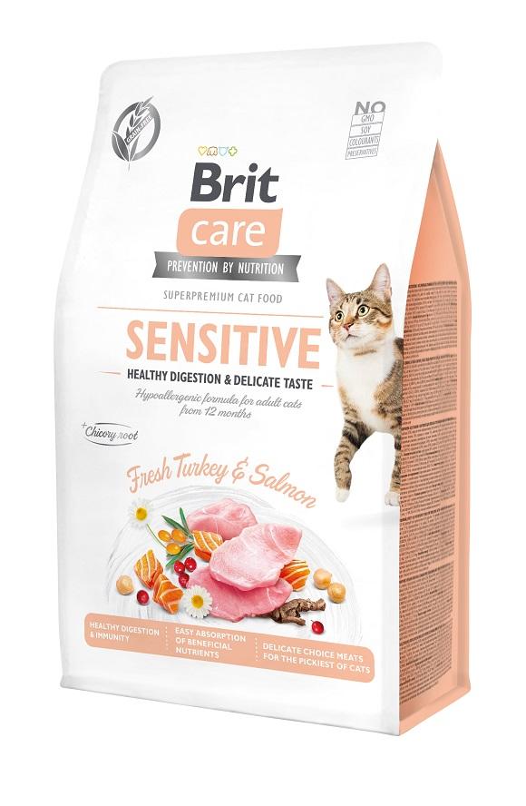 brit care cat grain free sensitive sucha karma dla kota o wrażliwym przewodzie pokarmowym