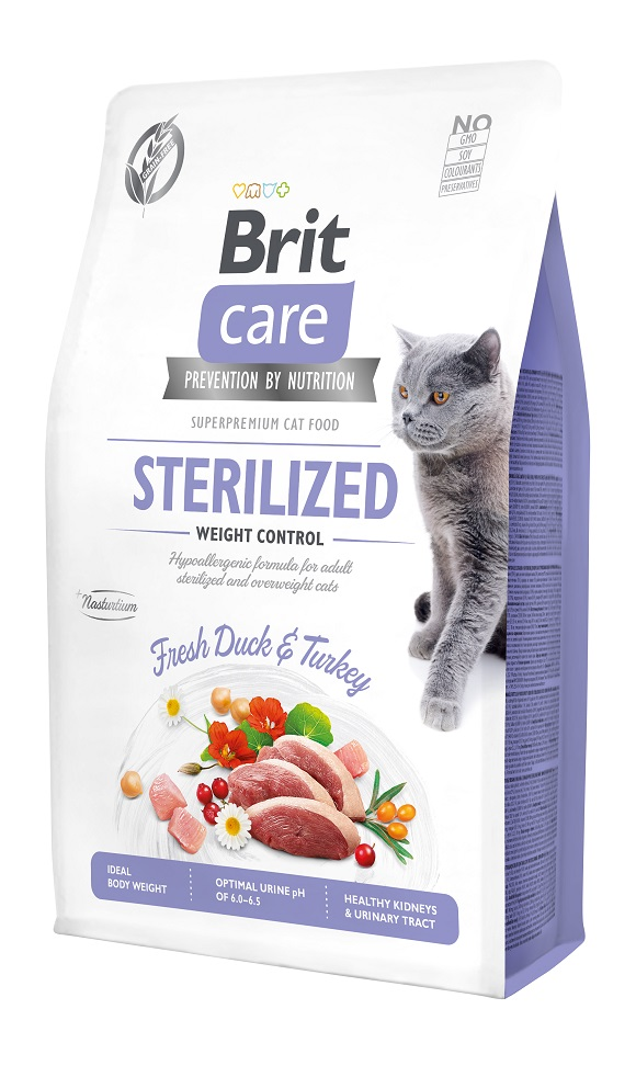 brit care sterilised weight control sucha karma dla sterylizowanego kota