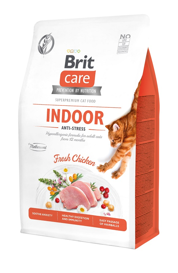 brit care indoor antistress sucha karma dla zestresowanego kota