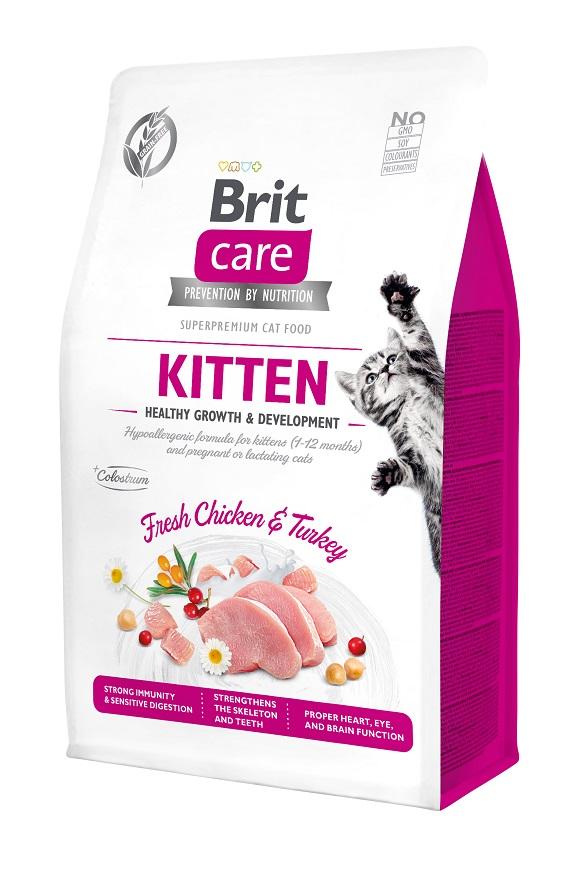 brit care kitten grain free hair care sucha karma dla kociąt