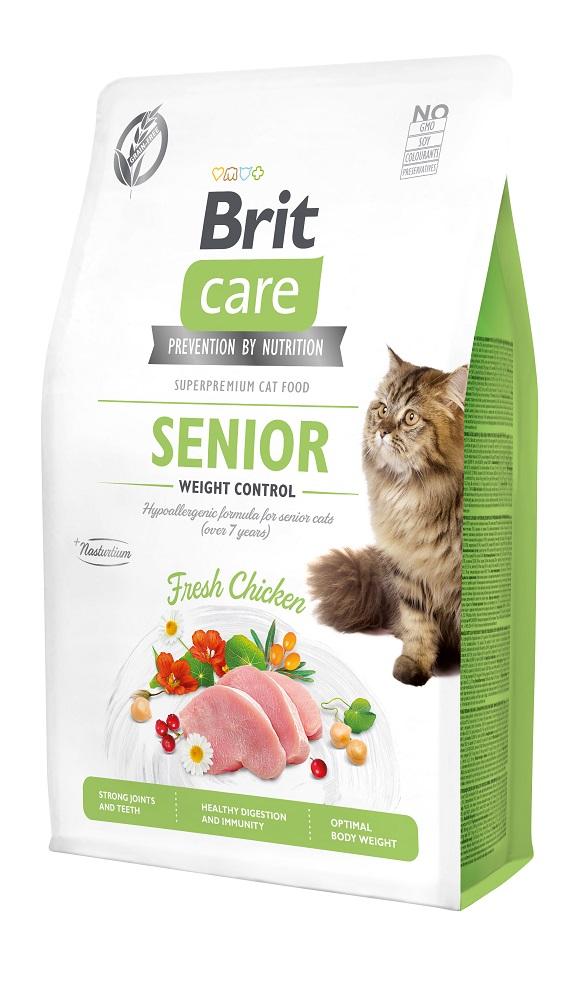 brit care senior grain free sucha karma dla starszego kota