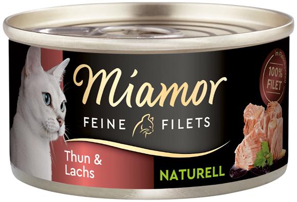 MIAMOR FEINE FILETS NATURELLE KARMA DLA KOTA tuńczyk z łososiem