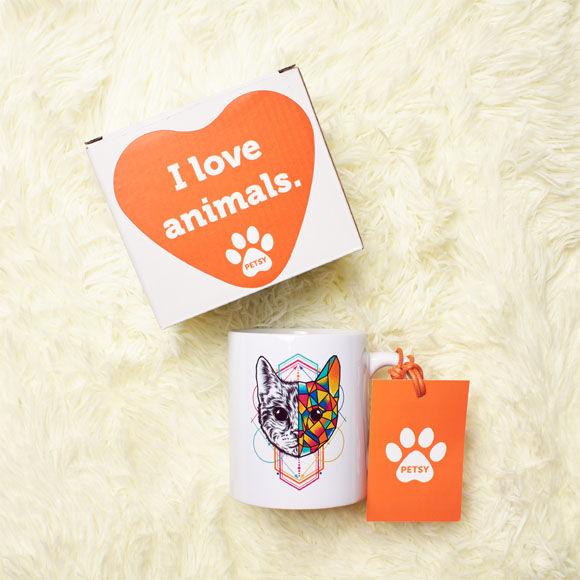 Kubek ceramiczny z kotem