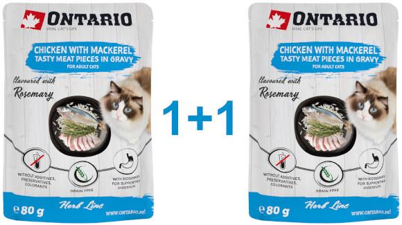 ONTARIO HERB LINE KARMA DLA KOTA kurczak z makrelą, ryżem i rozmarynem