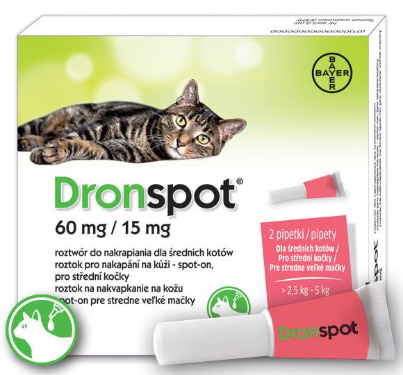 5909991409036 bayer dronspot krople odrobaczające dla kotów