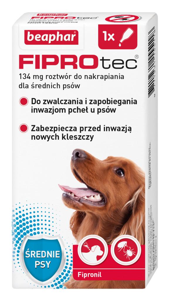 beaphar fiprotec krople przeciw kleszczom dla psa