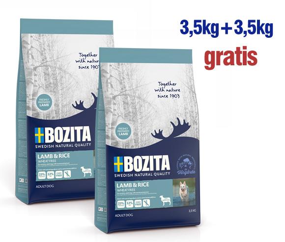 promocja karmy Bozita dla psa: 3,5kg +3,5kg gratis