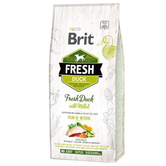 brit frsh kaczka i proso sucha karma dla aktywnego psa