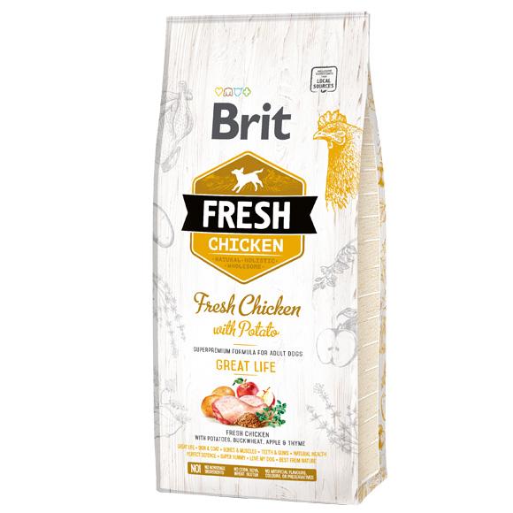 Brit Fresh sucha karma dla dorosłego psa - kurczak i ziemniaki