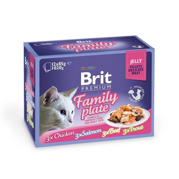 8595602519408 zestaw mokrej karmy Brit Premium dla kota
