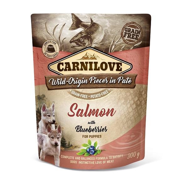 CARNILOVE DOG POUCH KARMA DLA SZCZENIĄT z łososiem i jagodami
