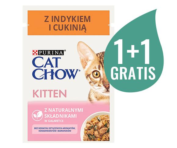 mokra karma w saszetkach dla kociąt, cat chow