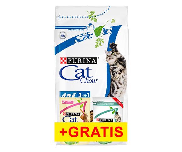 sucha karma cat chow dla kota + mokra karma gratis