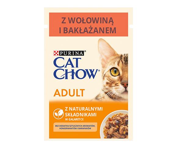 CAT CHOW MOKRA KARMA DLA KOTA - z wołowiną i bakłażanem