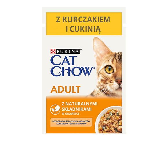 CAT CHOW MOKRA KARMA DLA KOTA - z kurczakiem i cukinią