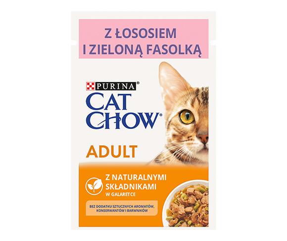 CAT CHOW MOKRA KARMA DLA KOTA - z łososiem i zieloną fasolką
