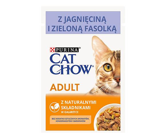 CAT CHOW MOKRA KARMA DLA KOTA - z jagnięciną i zieloną fasolką