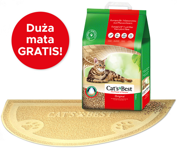 cats best original żwirek dla kota + mata gratis