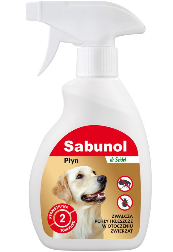 sabunol płyn do zwalczania pcheł w otoczeniu psa