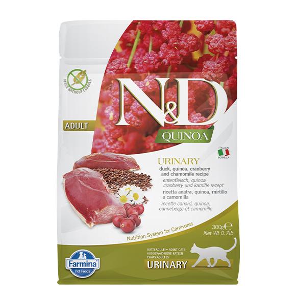 Farmina N/D Cat Quinoa urine kaczka, quinoa, żurawina i rumianek