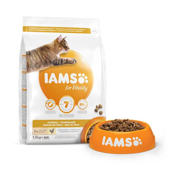 karma iams vitality hairball control dla dorosłych kotów