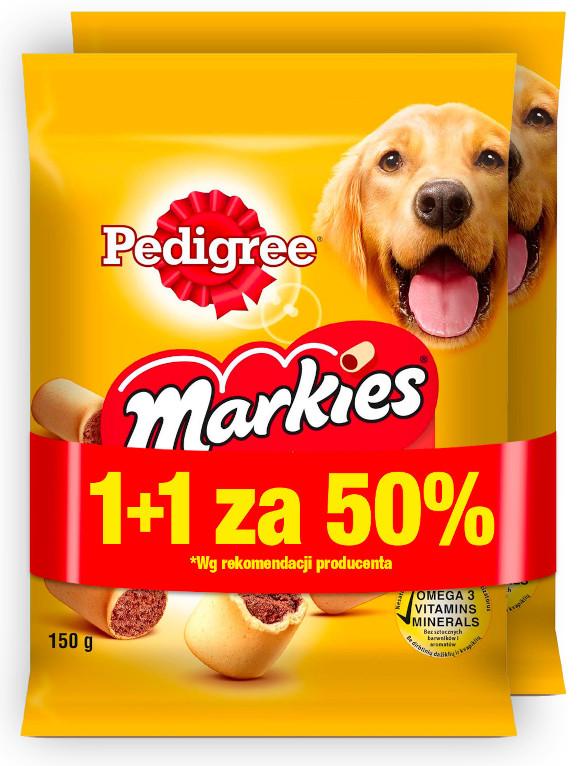 PEDIGREE MARKIES 150g promocja 1+1 za pół ceny