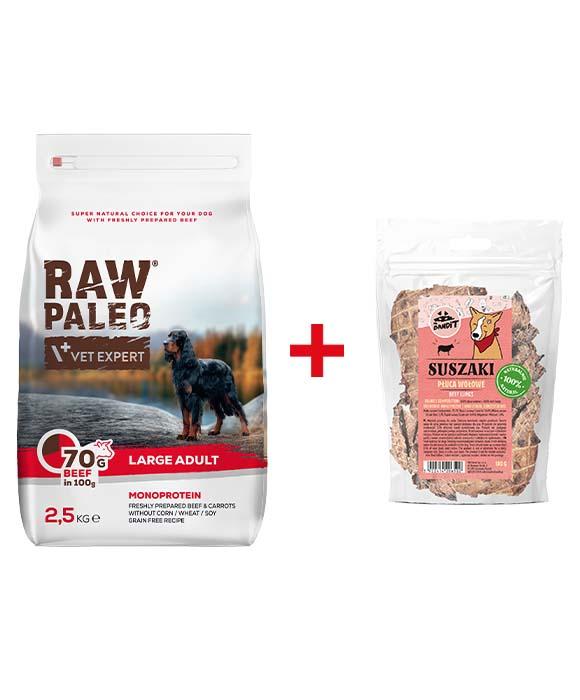 raw paleo sucha karma dla psa + przysmaki mr bandit gratis