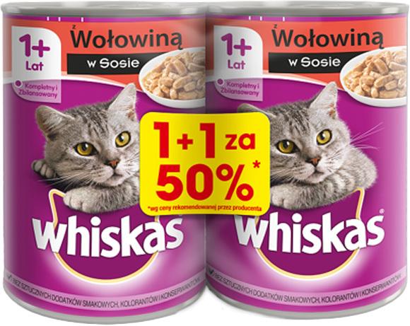 Whiskas mokra karma dla kota - puszka