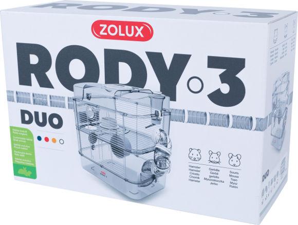 Zolux Rody3 duo klatka dla chomika, myszki i myszoskoczka