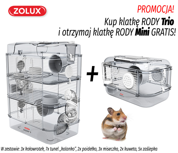 zolux klatka dla chomika rody trio + rody mini gratis