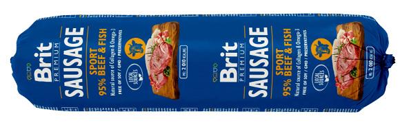 BRIT SAUSAGE MIELONKA DLA aktywnego PSA - wołowina z rybą