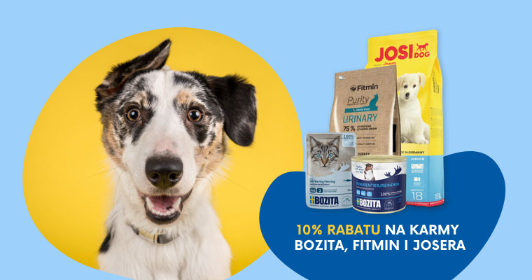 10% rabatu na karmy Bozita, Fitmin i Josera w Telekarmie!