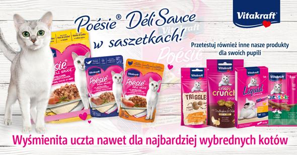 Promocja karma Poesie dla kota w internetowym sklepie zoologicznym Telekarma.pl
