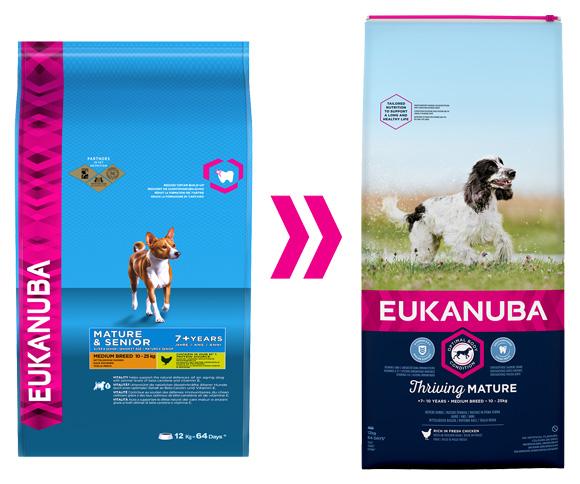 eukanuba dla starszych psów srednich ras