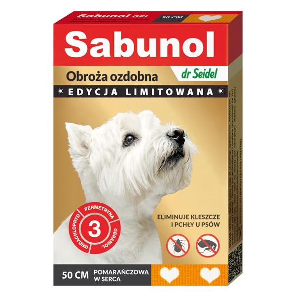 sabunol ozdobna obroża przeciw pchłom i kleszczom dla psa