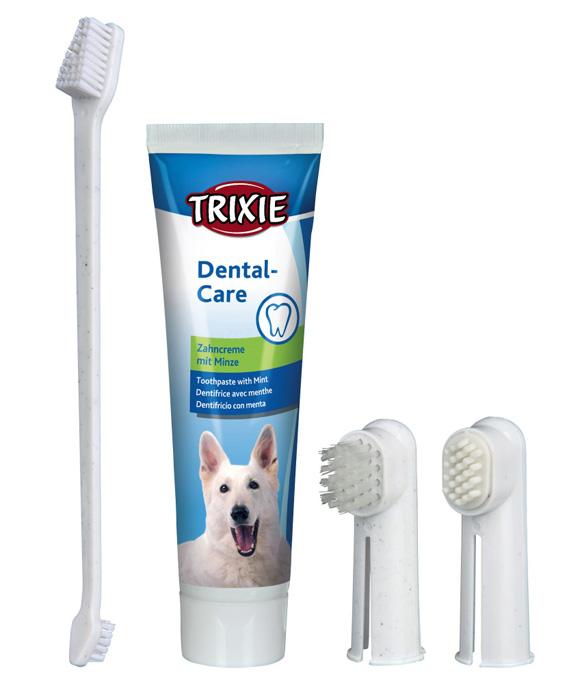 trixie zestaw do czyszczenia zebow dla psa