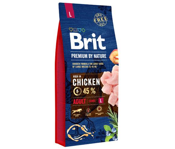 brit premium by nature adult large karma dla dorosłych psów ras dużych
