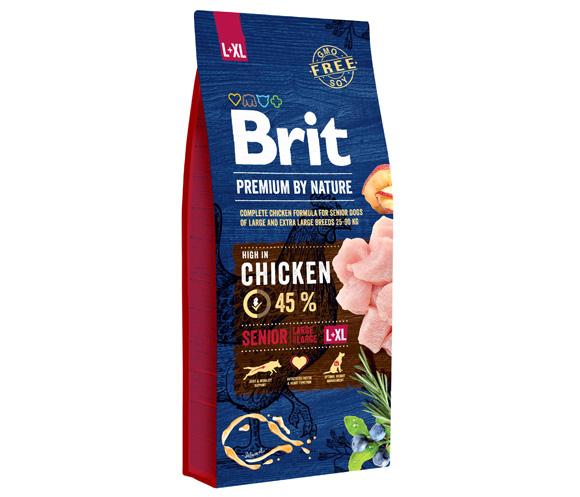 brit premium by naturesenior large i extralarge karma dla starszych psów ras dużych i olbrzymich