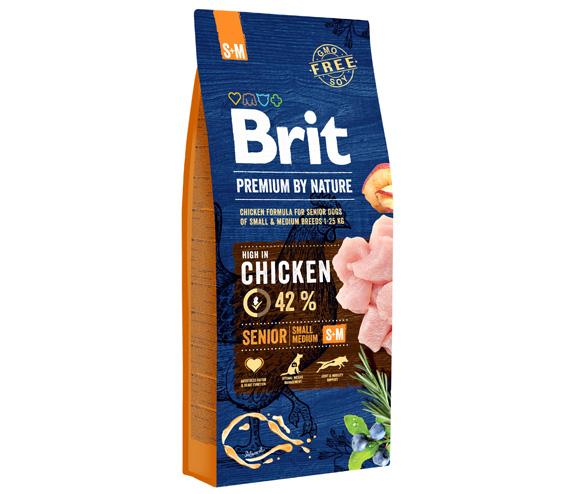 brit premium by nature senior small medium karma dla starszych psów ras małych i średnich
