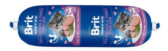 brit sausage cat mięsny baton dla kota sterylizowanego