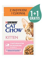 CAT CHOW MOKRA KARMA DLA KOCIĄT - z indykiem i cukinią 85g+85g gratis