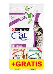 CAT CHOW ADULT SPECIAL CARE HAIRBALL CONTROL + 2 saszetki gratis