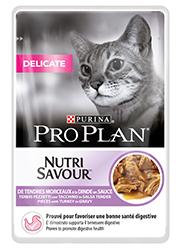 PRO PLAN CAT NUTRISAVOUR DELICATE Z INDYKIEM