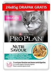 PRO PLAN CAT NUTRISAVOUR DELICATE Z RYBĄ