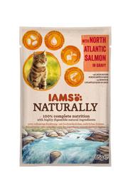 IAMS CAT NATURALLY MOKRA KARMA DLA KOTA - z łososiem atlantyckim