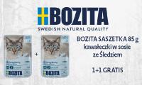 Bozita 1+1 saszetki dla kota baner boczny