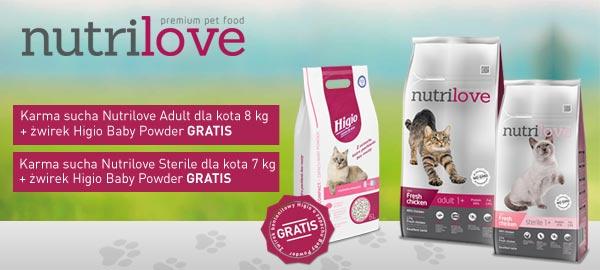 Nutrilove karma dla kota + żwirek