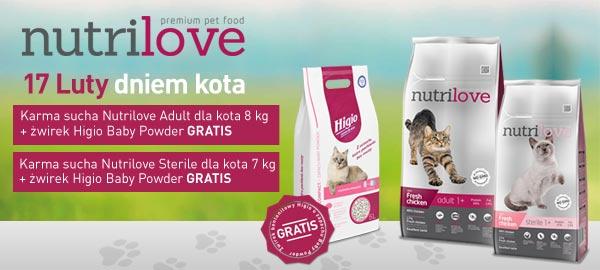 Nutrilove karma dla kota + żwirek / dzień kota